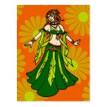 Irish Spring Belly Dancer Postcard