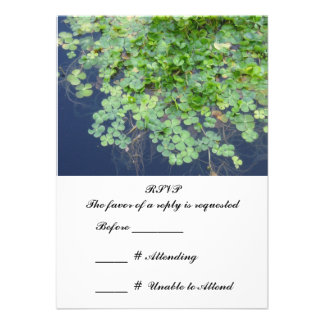 Irish Spring Clover RSVP Cards Personalized Invitations