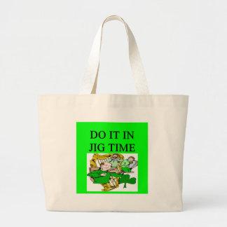 irish st patrick sday joke canvas bags