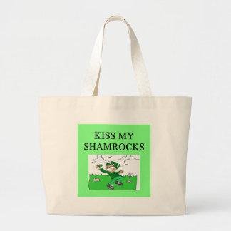 irish st patrick sday joke tote bags