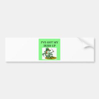 irish st patrick sday joke bumper sticker
