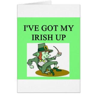 irish st patrick sday joke greeting card