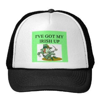 irish st patrick sday joke mesh hat