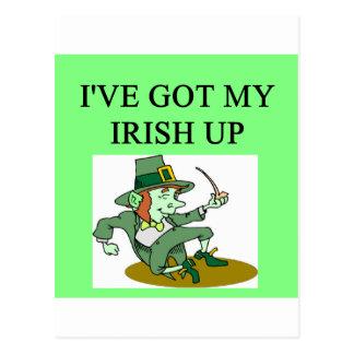 irish st patrick sday joke post card