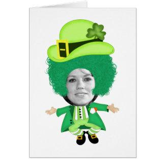 Irish St Patricks Day Jig, Photo Framed Head Card