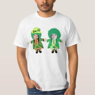 Irish St Patricks Day Jig, Photo Framed Heads T-Shirt