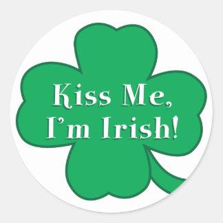 Irish St. Patrick's Day - Kiss Me I'm Irish! Round Sticker