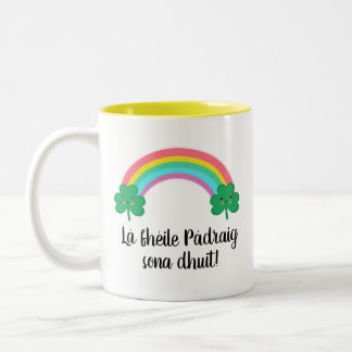 Irish St. Patrick's Day Mug with Rainbow