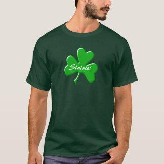 Irish St Patrick's Ireland Slainte Cheers Design T-Shirt