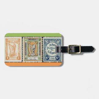 Irish Stamp Luggage Tag