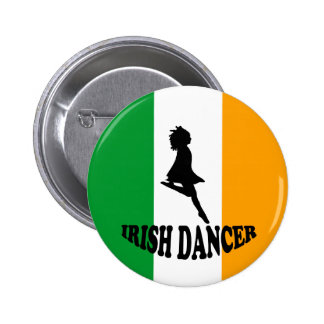 Irish Step Dancer Pinback Buttons