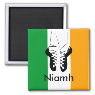 Irish Step Dancer Square Magnet