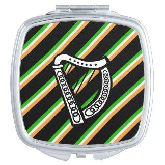 Irish stripes flag makeup mirror