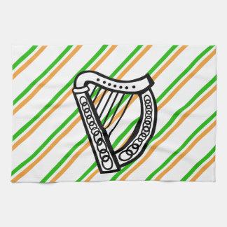 Irish stripes flag tea towel
