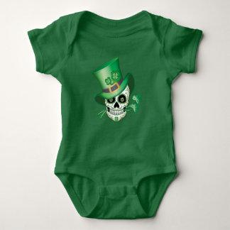 Irish Sugar Skull Baby Bodysuit