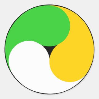 Irish Swirl Classic Round Sticker