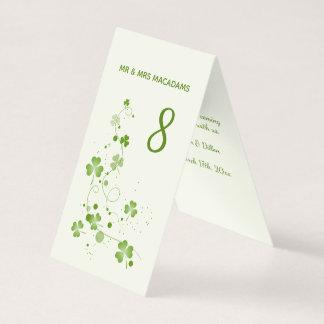 Irish swirly shamrock Table number Business Card
