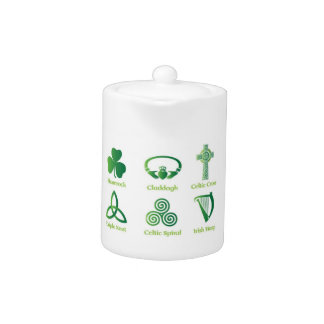 Irish symbol teapot, Celtic, Irish Heritage