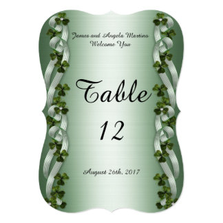 Irish table number cards