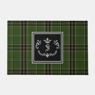 Irish Tartan Monogram Doormat