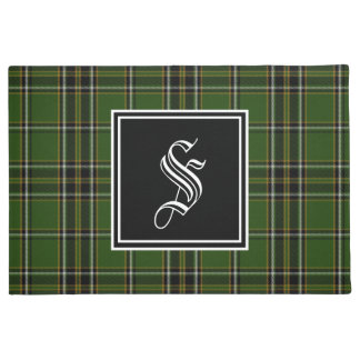 Irish Tartan Monogram Doormat