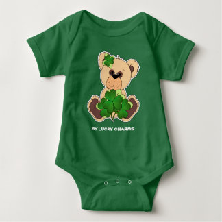 Irish Teddy Bear St.Patrick's Day Bodysuits