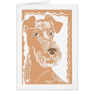 Irish Terrier Art Greeting Card