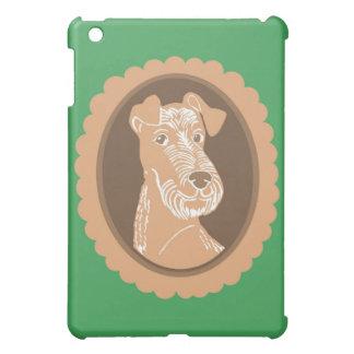 Irish Terrier Brown Cameo Green iPad Case