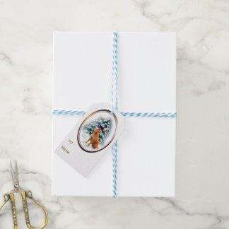 Irish Terrier Christmas Gift Tags