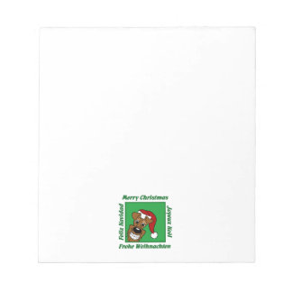 Irish Terrier Christmas Notepad