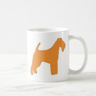 irish terrier color silhouette coffee mug