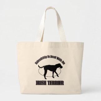 IRISH TERRIER DOG DESIGNS CANVAS BAGS