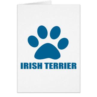 IRISH TERRIER DOG DESIGNS CARD