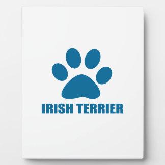 IRISH TERRIER DOG DESIGNS PLAQUE