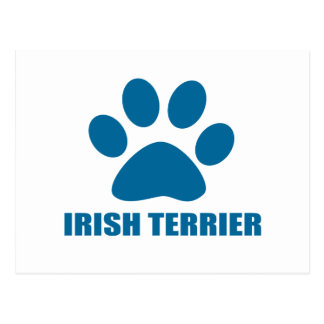 IRISH TERRIER DOG DESIGNS POSTCARD