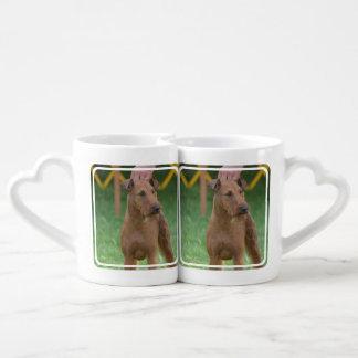 Irish Terrier Dog Couples Mug