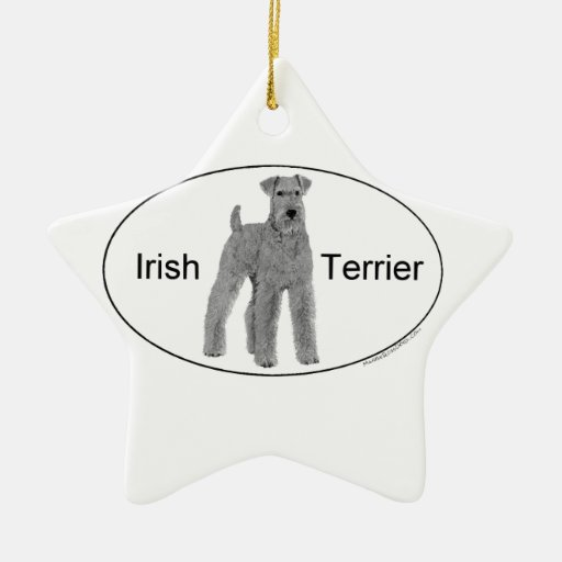 Irish Terrier Euro Style Christmas Ornaments