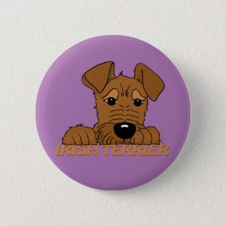 Irish Terrier head Cute 6 Cm Round Badge