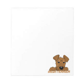Irish Terrier head Cute Notepad