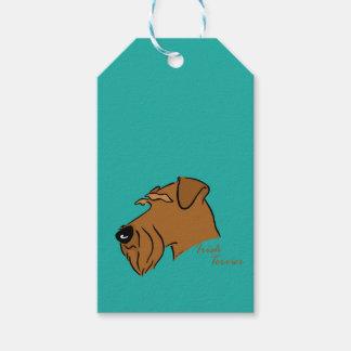 Irish Terrier head silhouette Gift Tags