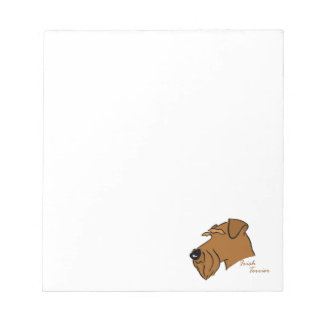Irish Terrier head silhouette Notepads
