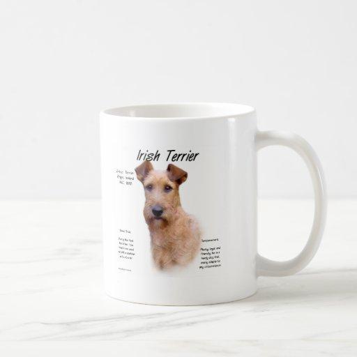 Irish Terrier History Design Mugs