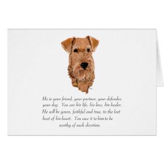 Irish Terrier Keepsake - Male Card