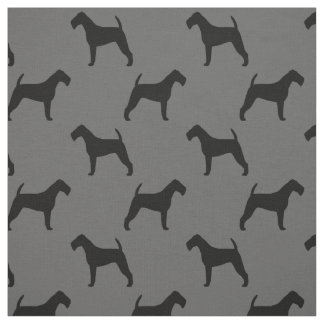 Irish Terrier Silhouettes Pattern Fabric
