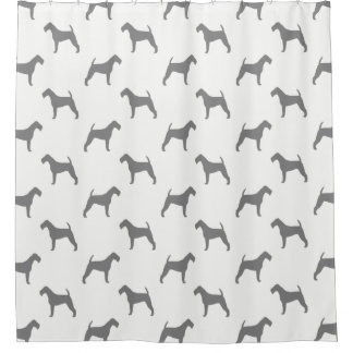 Irish Terrier Silhouettes Pattern Shower Curtain