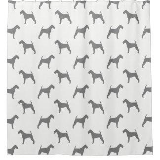 Irish Terrier Silhouettes Pattern Shower Curtain