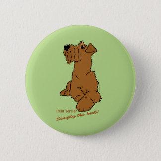 Irish Terrier - Simply the best! 6 Cm Round Badge