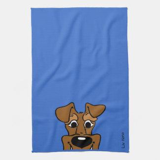 Irish Terrier Smile Tea Towel