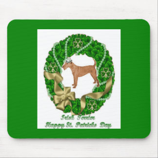 Irish Terrier St Patricks Day Mousepad