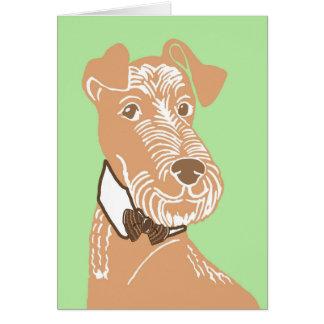 Irish Terrier Wearing a Bowtie Greeting Card